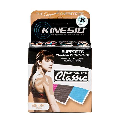 Kinesio Tape Classic Beige Verpakking Kinesio Tape Classic Beige Verpakking achterkant - Kinesio Nederland