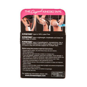 Kinesio Tape Classic Roze Verpakking achterkant - Kinesio Nederland