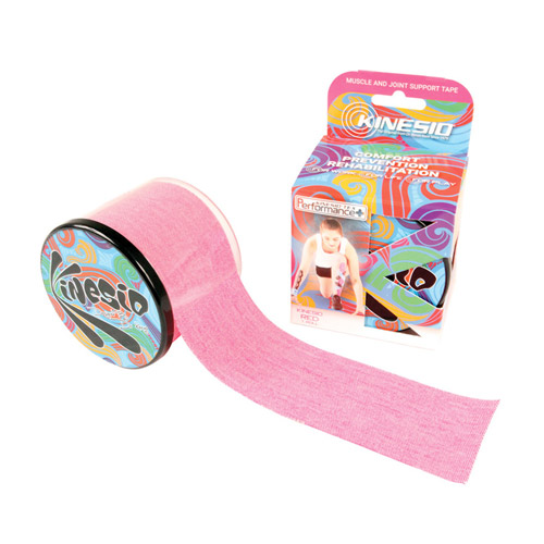Kinesio-Tape-Perfomance-Rol-Geen logo-Roze