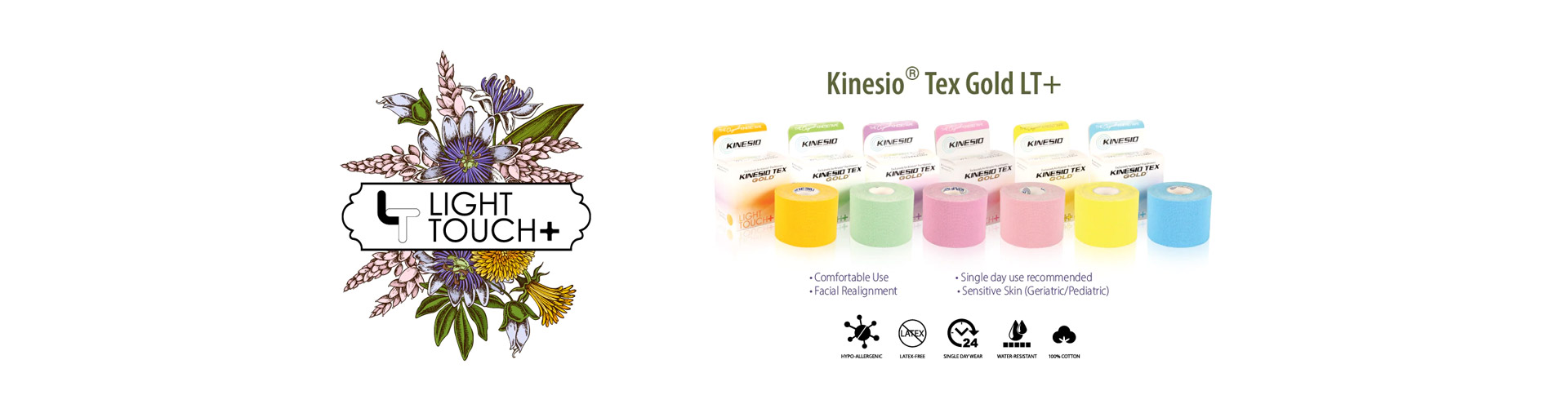 Kinesio Tex Gold Light Touch + Header