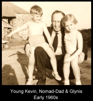 Young Kevin with Nomad Dad & Glynis