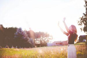woman morning routine blog
