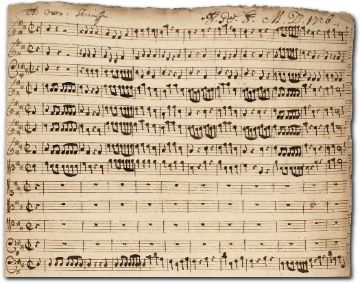 Originele partituur van Graupner uit 1726