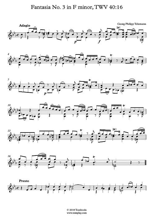 Fantasia in f mineur (TWV40:16)
