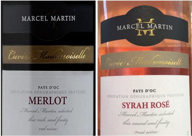 Karton gemengd rode en rosé wijn