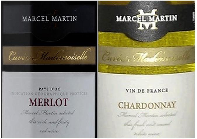 Karton gemengd rode en witte wijn