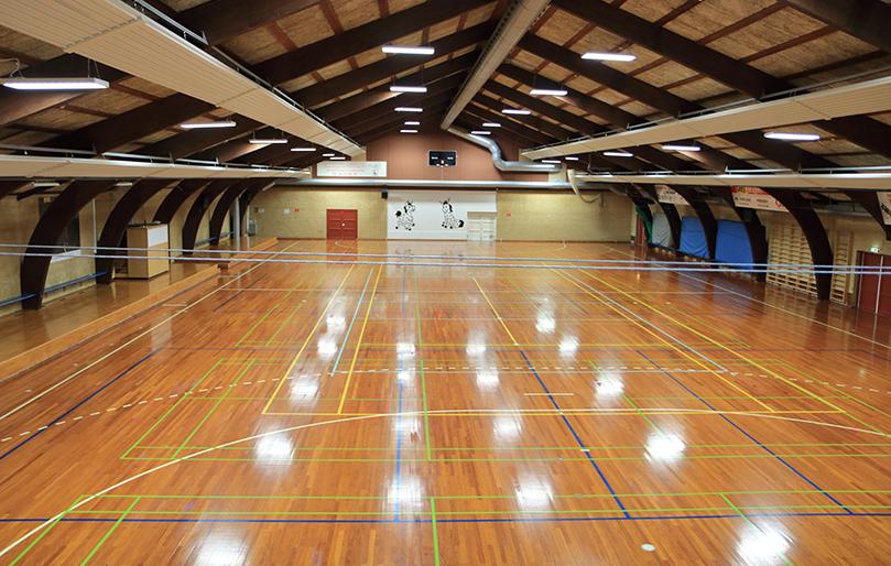 Knabstrup Hallen, udlejning af sportshal med baner, gulv