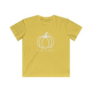 Kids Pumpkin Tee (White)