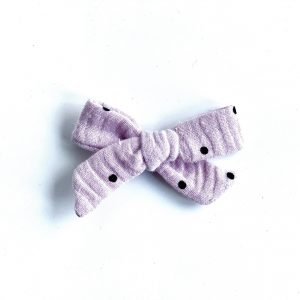 Mini Knot // Purple Dot Muslin