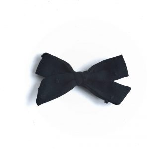 Mini Knot // Black Swiss Dot