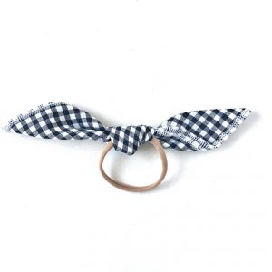 Handkerchief Tie // Black Gingham