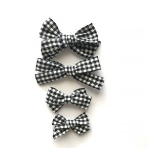 Chunky Knot // Black Gingham