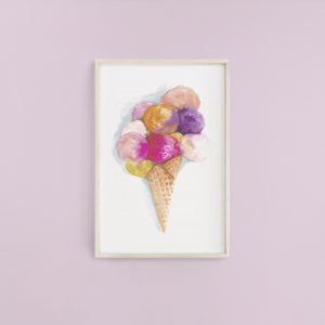 Ice Cream Watercolour Print