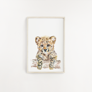 Cheetah Watercolour Print