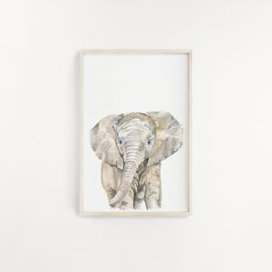 Elephant Watercolour Print