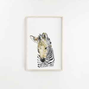 Zebra Watercolour Print