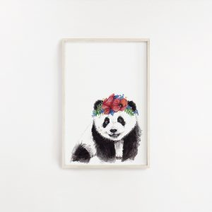 Baby Panda Watercolour Print