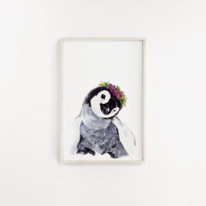 Baby Penguin Watercolour Print