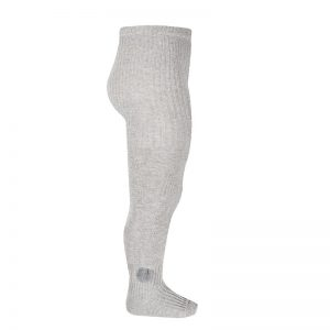 Side pompom tights // Light Grey