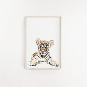 Baby Tiger Watercolour Print