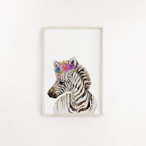 Baby Zebra Watercolour Print