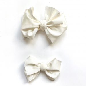 Party Knot // White Swim Bow