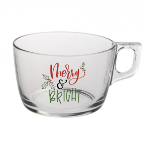Clear Mug // Merry and Bright
