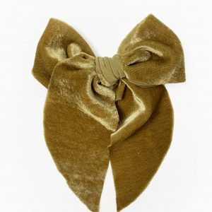 Belle Bow // Gold Velvet