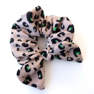 Scrunchie // Green Leo Muslin