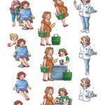 3D cutting sheet - Yvonne Creations - Bubbly Girls - Professions