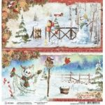 Snowmen Double-Sided Paper Sheet 12