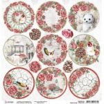 Frozen Roses Medallions Double-Sided Paper Sheet 12