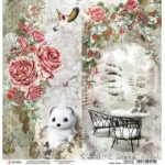 Frozen Roses Double-Sided Paper Sheet 12