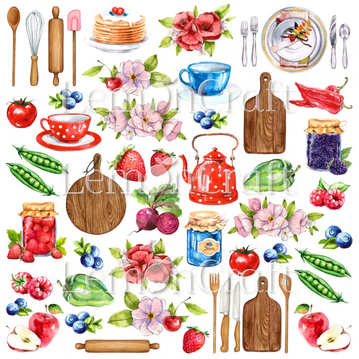 Delicious cutouts 01 – A sheet of pictures for cutting – Lemoncraft