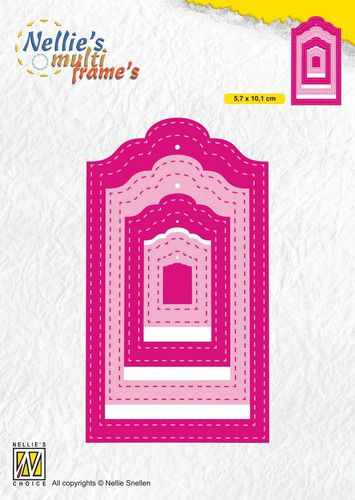 Nellies Choice Multi Frame Die – Stiched tags