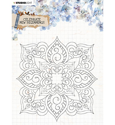 SL Clear Stamp background Celebrate new beginnings 150x150mm nr.519