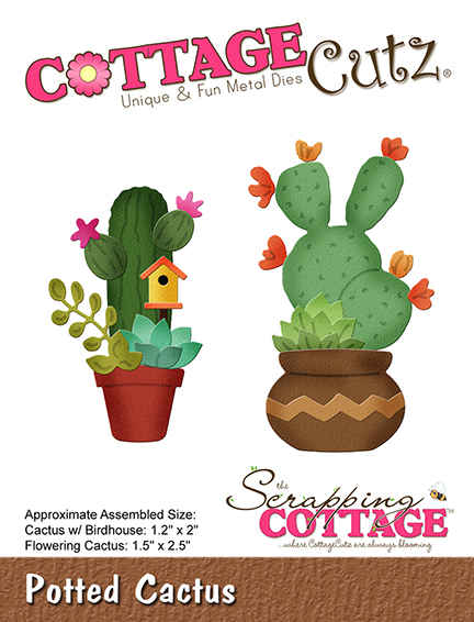 Scrapping Cottage Potted Cactus