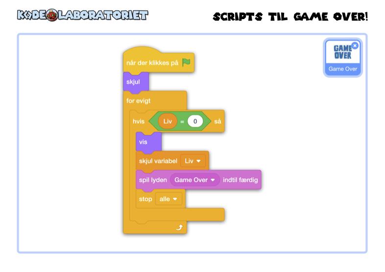 Scripts til Game Over