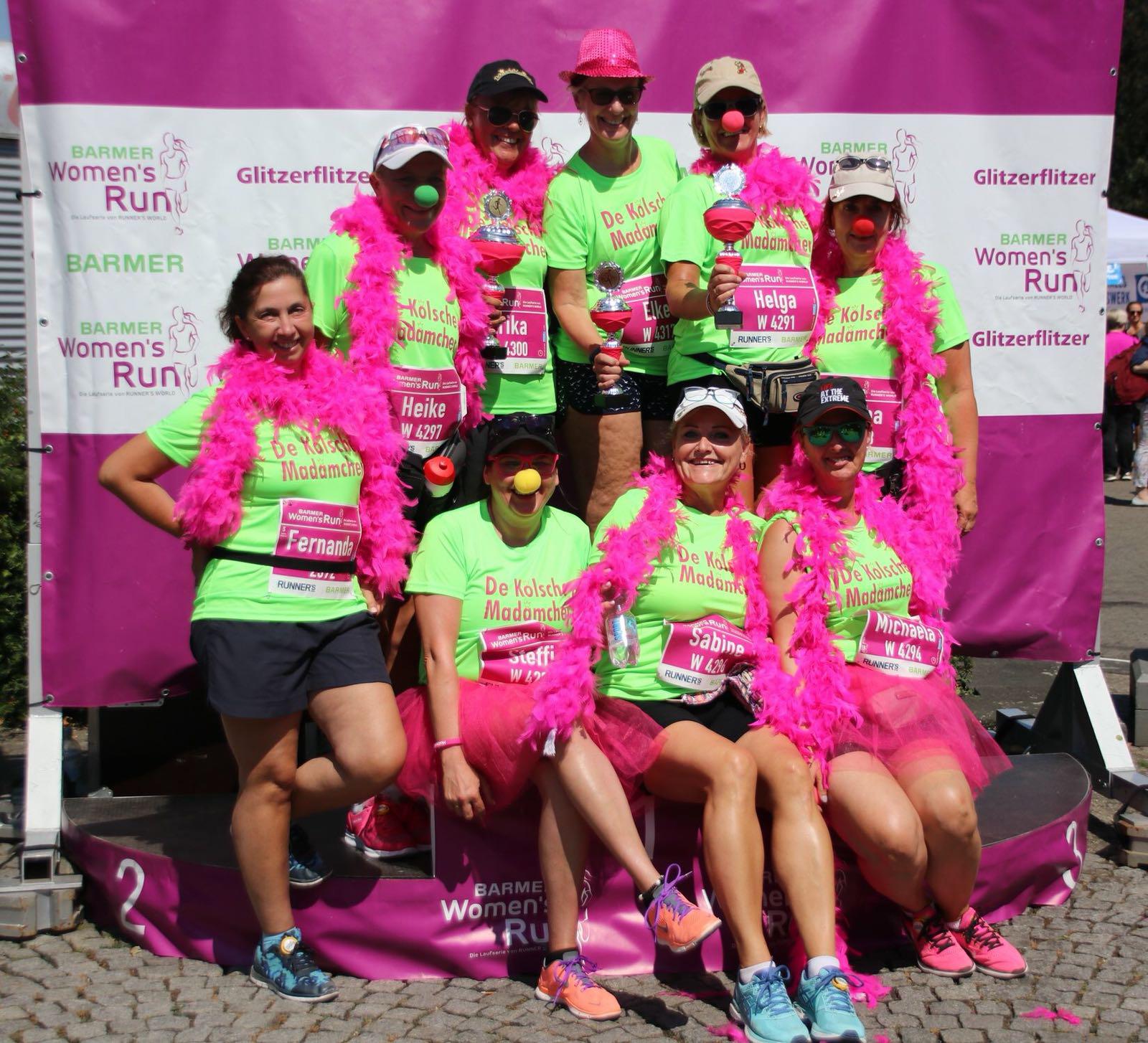 Die Youngstars und einige gestandene Madämchen beim Womans Run 2018