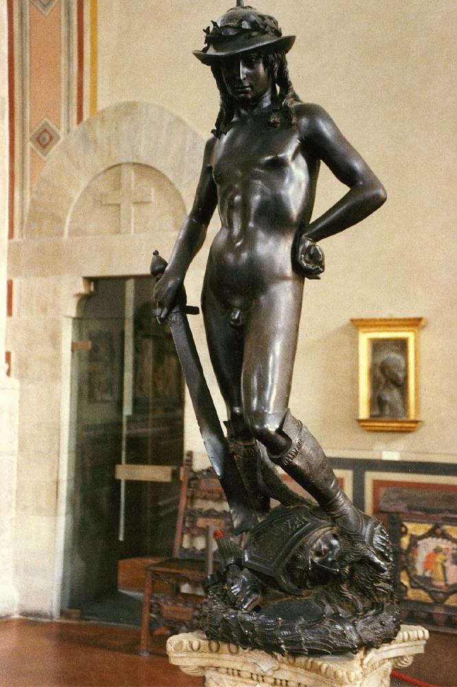 David van Donatello in Bargello, Florence