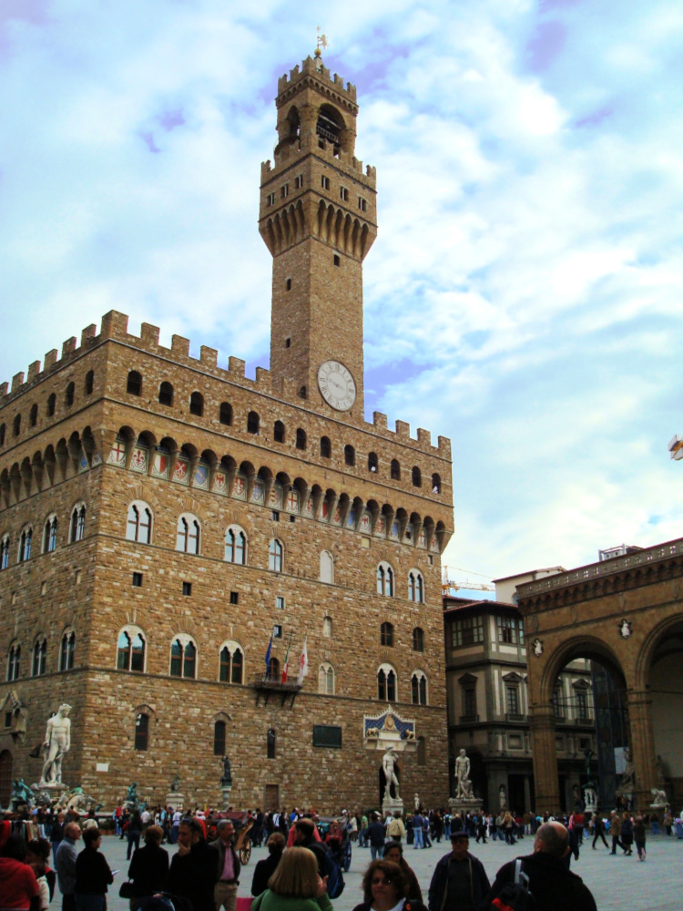 Palazzo Vecchio op de Piazza della Signoria, Florence