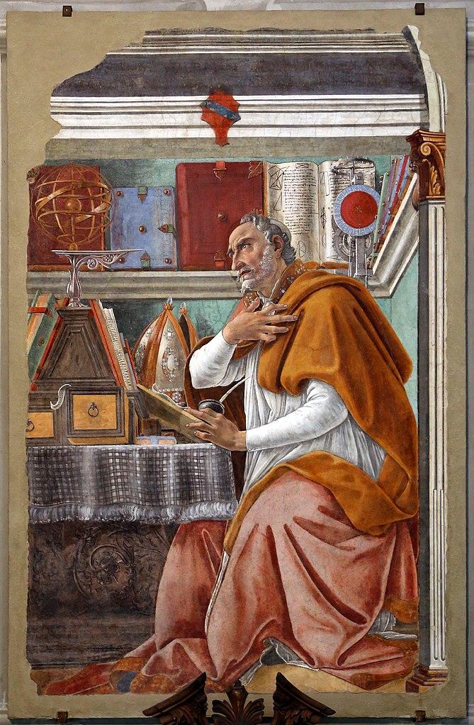 Botticelli, De heilige Augustinus in Ognissanti-kerk in Florence