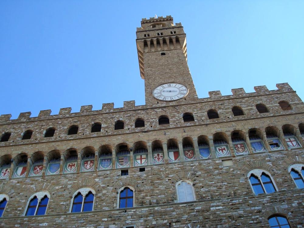 Wapenschilden onder de omloop van Palazzo Vecchio, Florence