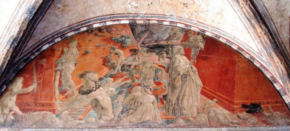 Paolo Uccello, De zondvloed, fresco in de kloostertuin van Santa Maria Novella