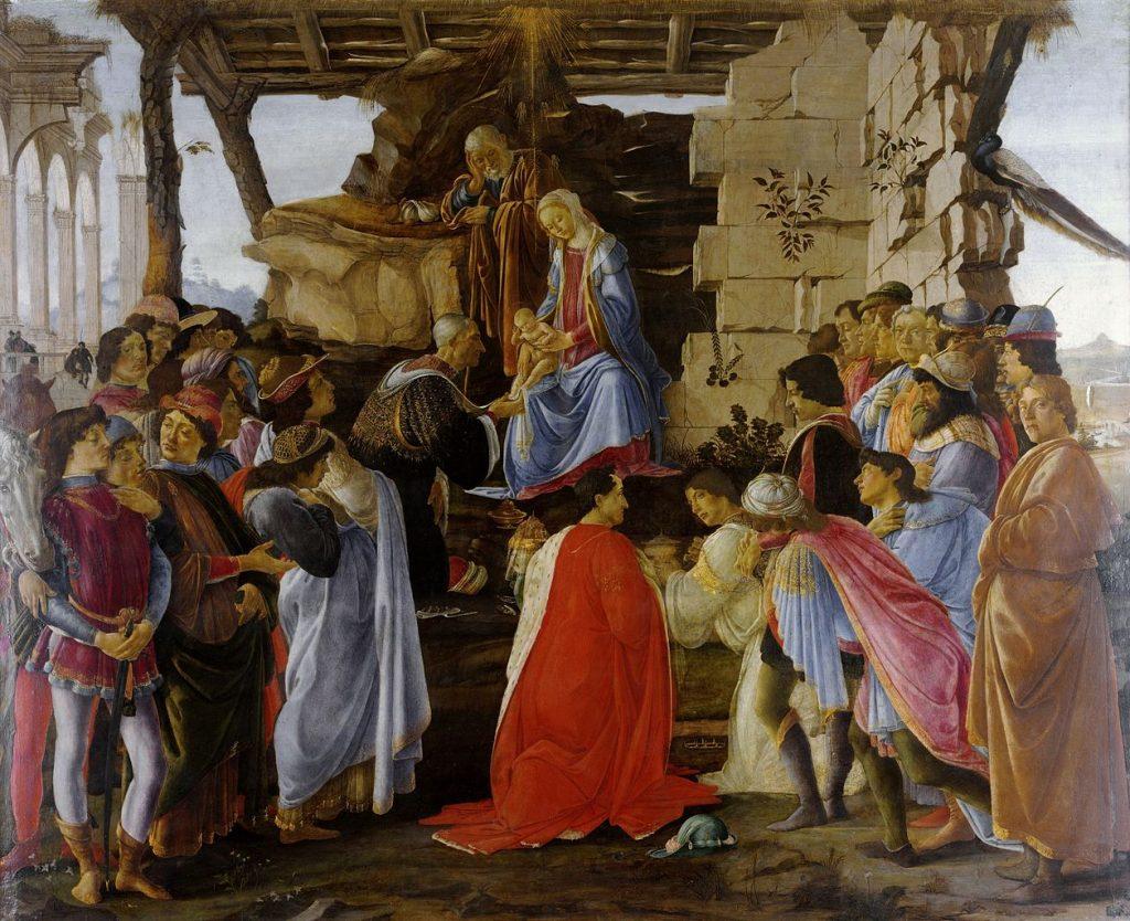 Botticelli, Aanbidding der wijzen,1475, nu in Uffizi Florence (Firenze)