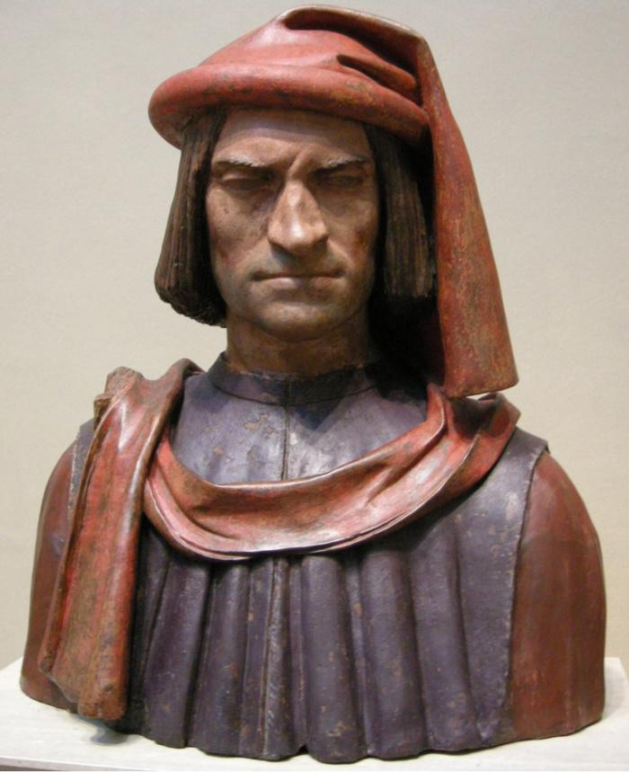Buste in terracotta van Lorenzo de' Medici