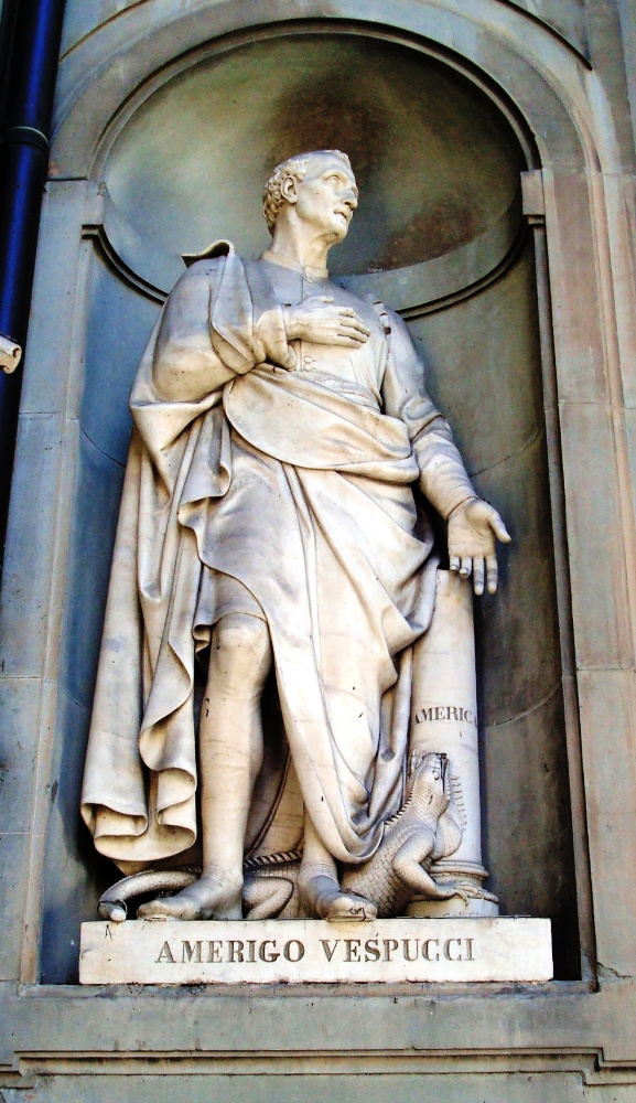 Statue of Amerigo Vespucci in Florence