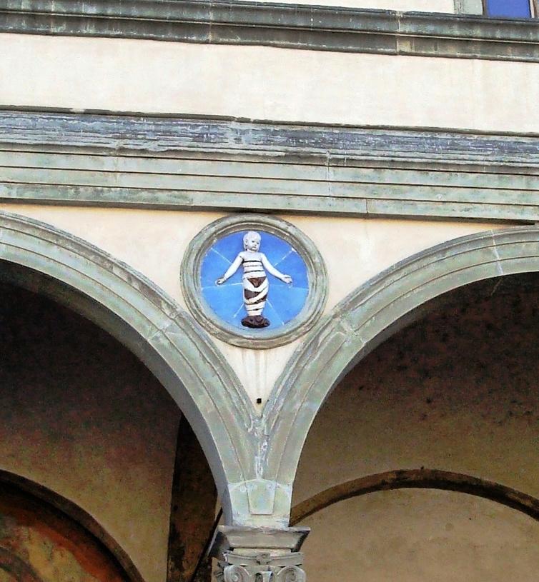 Tondo on the Ospedale degli Innocenti by Andrea della Robbia