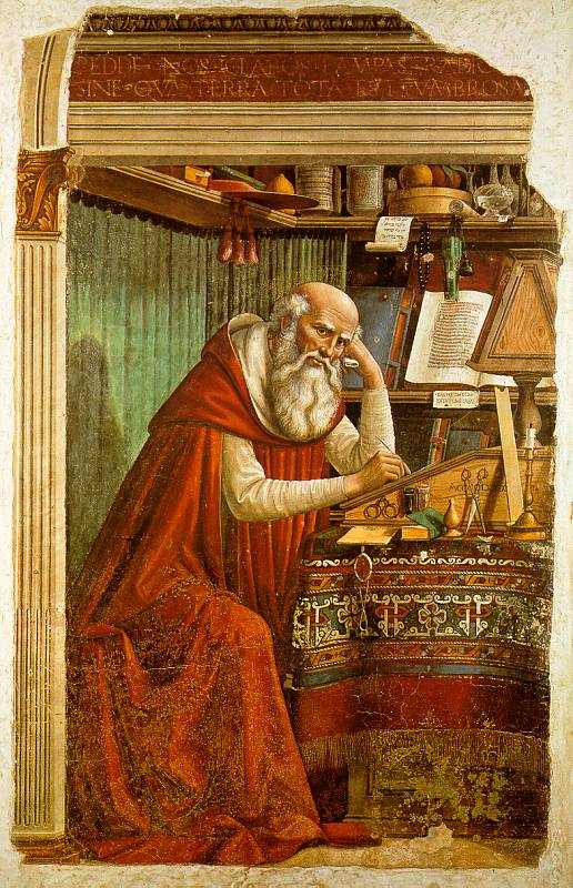 Domenico Ghirlandaio, Saint Jerome in Ognissanti in Florence