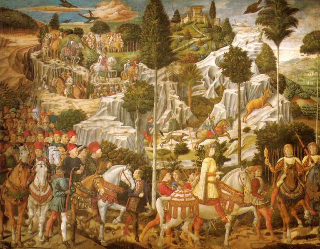 Detail from Benozzo Gozzoli, Procession of the Kings, fresco in the Cappella dei Magi.